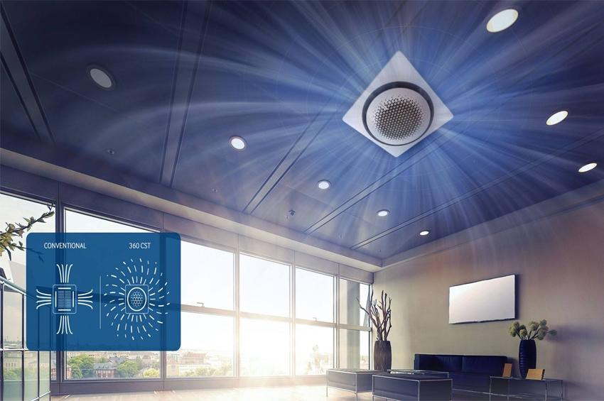 แอร์ Samsung 360 Cassette ดีไซน์นวัตกรรมใหม่ แอร์ฝังเพดานทรงกลมตัวแรกของโลก เย็นทั่ว-หัวไม่หนาว