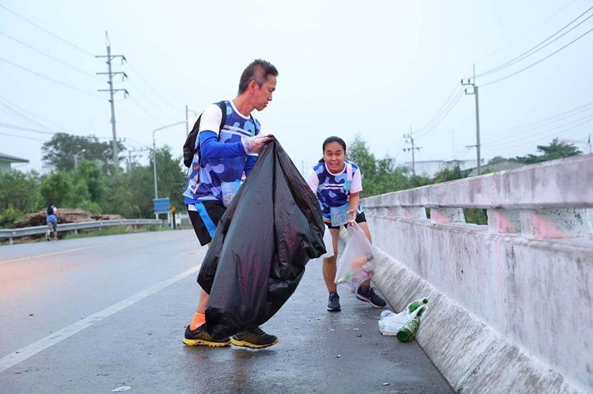 วิ่งรักษ์โลก วิ่งเก็บขยะ Polimaxx Run3R Plogging Run